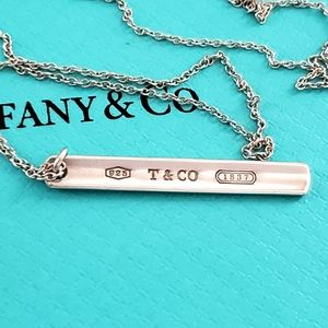 Tiffany 1837 Mini Bar Pendant Necklace
